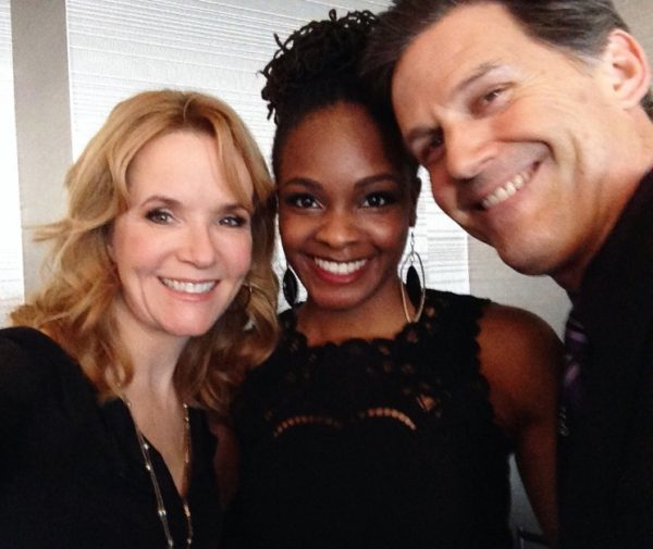 Sharon hanging out at aTVfest
